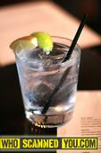 Scam - Beware of GLASS in your Vodka Tonic at Chops