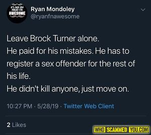 Ryan Mondoley from Las Vegas Nevada is a rape apologist, a victim blamer, and makes rape jokes